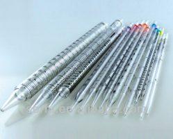 pipet thủy tinh thẳng chia vạch thường được dùng trong phòng lab, thí nghiệm tại các trường học, công ty thủy hải sản