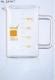 cốc thấp thành có tay cầm (Biohall)